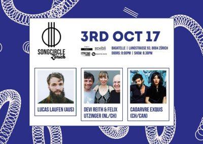Di. 3. Oktober 2017 | 20:00 Uhr | Songcircle Zürich