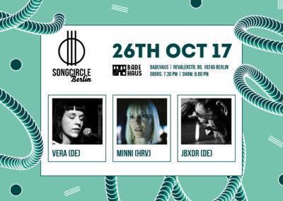 Do. 26. Oktober 2017 | 19:30 Uhr | Songcircle Berlin