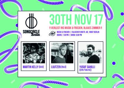 Do. 30. November 2017 | 19.30 | Songcircle Berlin