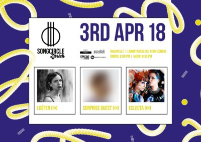 Di. 3. April 2018 | 20:00 Uhr | Songcircle Zürich